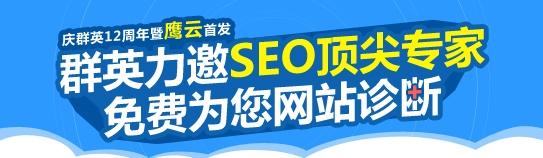 群英力邀SEO顶尖专家免费为您网站诊断